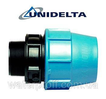 """Муфта затискна з зовнішньою різьбою 75х2 1/2"""" Unidelta"""