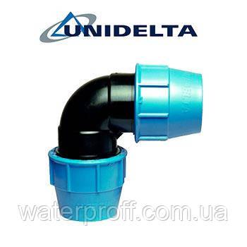 Колено зажимное 90 Unidelta