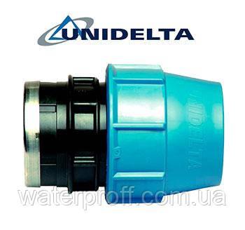 """Муфта затискна з внутрішньою різьбою 40х1 1/2"""" Unidelta, фото 2"""