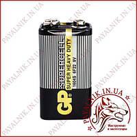 Батарейка Gp Supercell 9V 6F22 крона (1604S) солевая