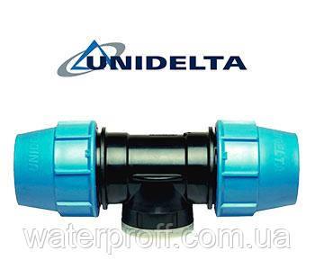 """Трійник затискний з внутрішньою різьбою 75х2 1/2"""" Unidelta, фото 2"""
