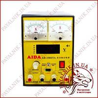 Лабораторний блок AIDA AD-1502TA, 15V 1.5 A, ЦИФРОВА ТА АНАЛОГОВА ІНДИКАЦІЯ, АВТОЗБЕРЕЖЕННЯ КЗ