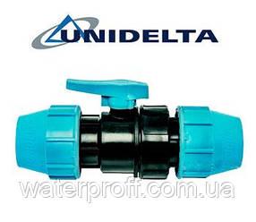 Кран кульовий 25 затискний Unidelta