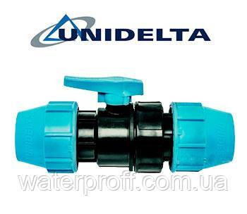 Кран кульовий 20 затискний Unidelta, фото 2