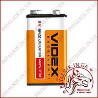Батарейка 9v Videx 6F22 (крона) солевая