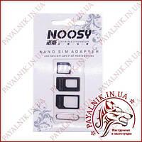 Адаптер Sim-карт Noosy sim adapter black