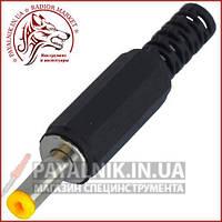 Штекер живлення 4,0\1,7 мм, довжина 11мм, корпус пластик (жовтий)