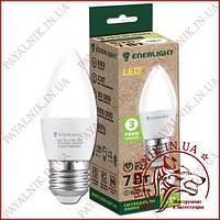 Лампа светодиодная ENERLIGHT C37 7W 4100K E27