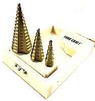 Набор ступенчатых сверл Euro Craft от 4 до 32 мм