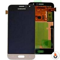 Дисплей Samsung J120H Galaxy J1 (2016) TFT (с регулировкой яркости) с сенсором (Модуль) золотой
