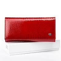 Великий полегшений жіночий гаманець Sergio Torretti з лакової шкіри