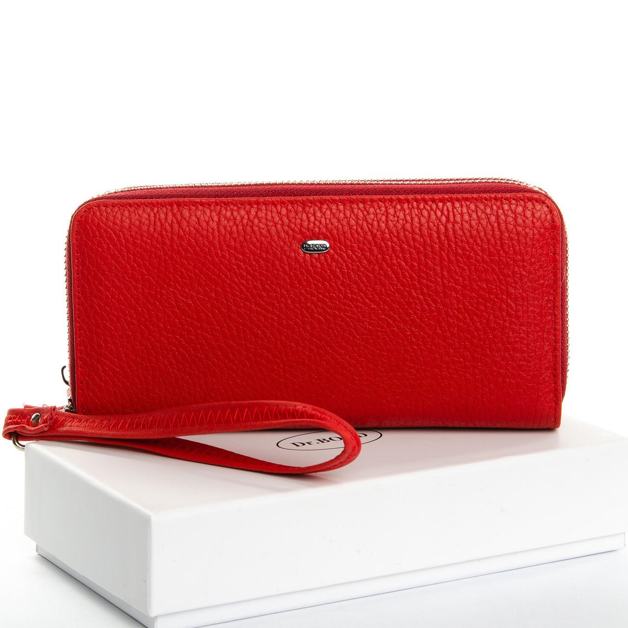 Большой кошелек клатч из натуральной кожи DR. BOND разные цвета 3650