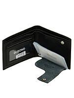 Чоловічий шкіряний гаманець DR. BOND чорний