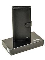 Мужское кожаное вертикальное портмоне Dr.Bond на клапане, фото 1