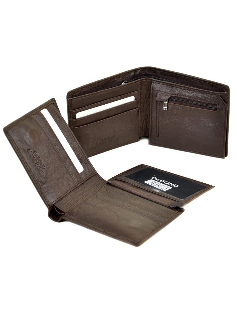Мужской кожаный кошелек Dr.Bond коричневый