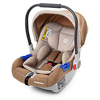 Детское автокресло Бебикокон для новорожденных бежевого цвета от 0 до 13 кг