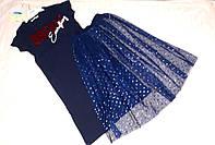 Комплект для дівчинки із спідницею ріст 146-152, фото 1