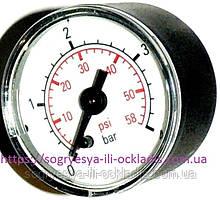 "Манометр круглий 0-4 Ваг 43 мм 1/8"" (без фір.уп, EU) Bosch, Buderus, Hermann Thesi, арт. MA25I, к. з. 0657/1"