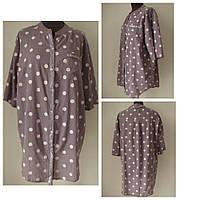 Блуза-рубашка в романтическом стиле в повседневной одежде, р.52 Код 1060М