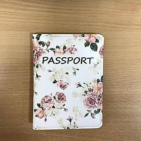 Обложка на паспорт v.2.0. Fisher Gifts 75 Весенние розы фон (эко-кожа)