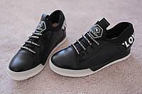 Женские  хайтопы кроссовки в стиле Moschino черные 37-41 новинка