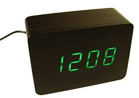 Часы настольные ET 009 5607 с зеленой подсветкой