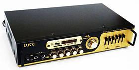 Підсилювач звуку UKC AV-121BT з караоке і Bluetooth