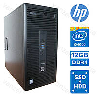 HP 600 G2 - Intel Core i5-6500/ 12GB DDR4/ 120GB SSD/ 500GB HDD Системный блок, Компьютер, ПК