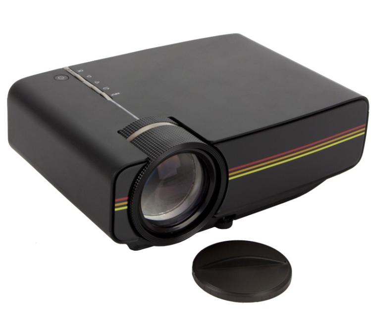Проектор мультимедийный с динамиком Led Projector LEJIADA YG400, черный