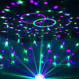 Диско шар в патрон LED UFO Bluetooth Crystal Magic Ball E27 0926, фото 5