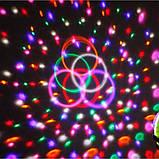 Диско шар в патрон LED UFO Bluetooth Crystal Magic Ball E27 0926, фото 6
