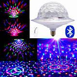 Диско шар в патрон LED UFO Bluetooth Crystal Magic Ball E27 0926, фото 8