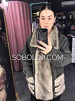 Куртка с норкой, материал - кашемировая вязка, размер 46/48, фото 1