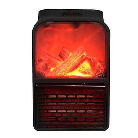 Електрообігрівач портативний Flame Heater 6730, з імітацією каміна