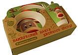 Набір дитячої бамбуковій посуду Stenson MH-2770-8 оленя, 5 предметів, фото 2