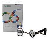 Комплект автомобильных LED ламп C6 в туманки 9005, фото 3