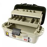 Ящик для снастей AQT-2702 двухъярусный, со съемными перегородками, 40х19.5х21 см, фото 3