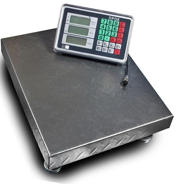 Весы торговые напольные ПРОК ВТ-300-Р2 (300 кг, 400*500)