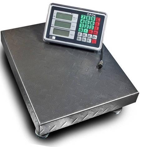 Підлогові ваги торговельні ПРОК ВТ-300-Р2 (300 кг, 400*500), фото 2