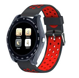Smart часы Z1, черные с красным ремешком