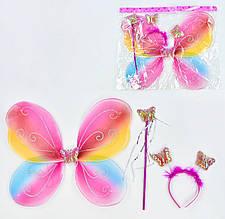 31255 Карнавальный набор для девочки Бабочка в наборе 3 предмета: крылья, жезл, ободок