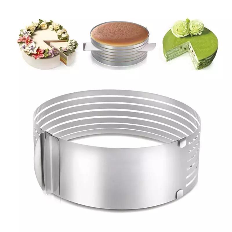 Кольцо раздвижное для нарезки и сборки коржей 24-30 см см