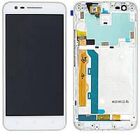 Дисплей (экран) для телефона Lenovo C2 K10a40 + Touchscreen with frame (copy) White