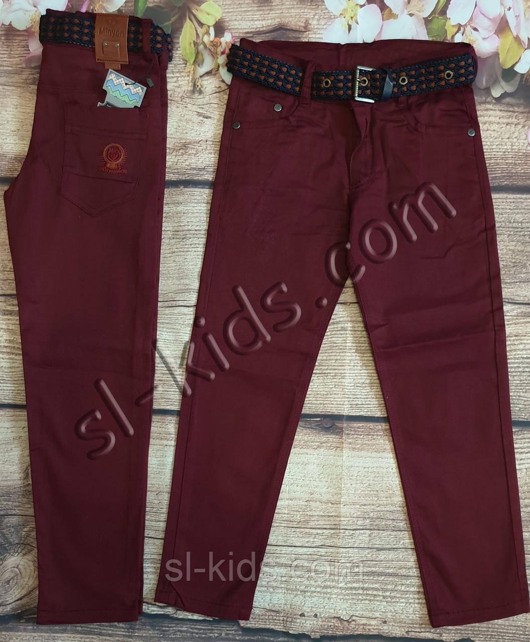 Яркие штаны, джинсы для мальчика 3-7 лет(бордо) опт пр.Турция