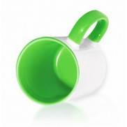 Кружка для сублимации цветная внутри и ручка 330 мл (салатовый)