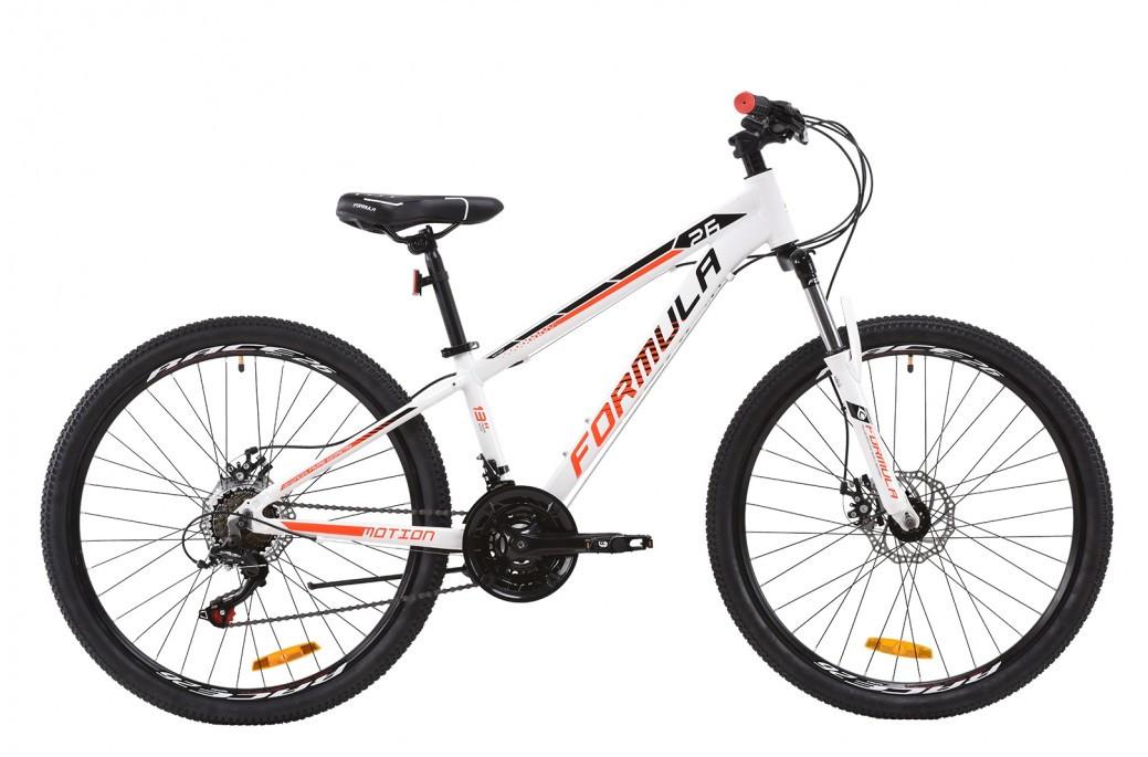 """Велосипед горный подростковый универсальный 26"""" Formula Motion AM DD 2020 алюминиевая рама 13"""", 16"""", 19"""" бело-черно-красный, 19"""""""