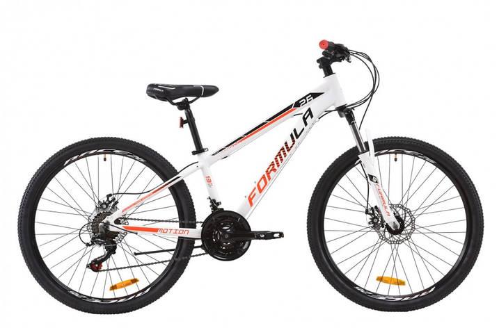 """Велосипед горный подростковый универсальный 26"""" Formula Motion AM DD 2020 алюминиевая рама 13"""", 16"""", 19"""" бело-черно-красный, 19"""", фото 2"""