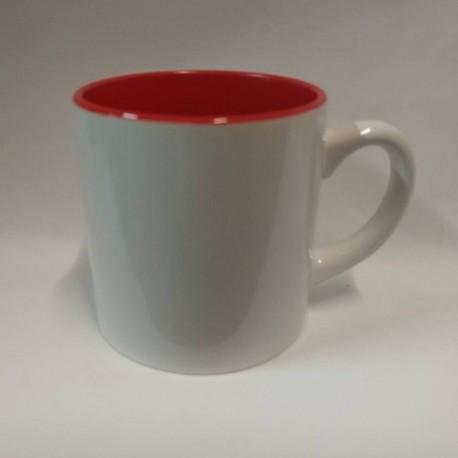 Чашка для сублимации цветная внутри 150 мл (красный)