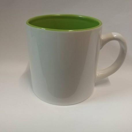 Чашка для сублимации цветная внутри 150 мл (салатовый)