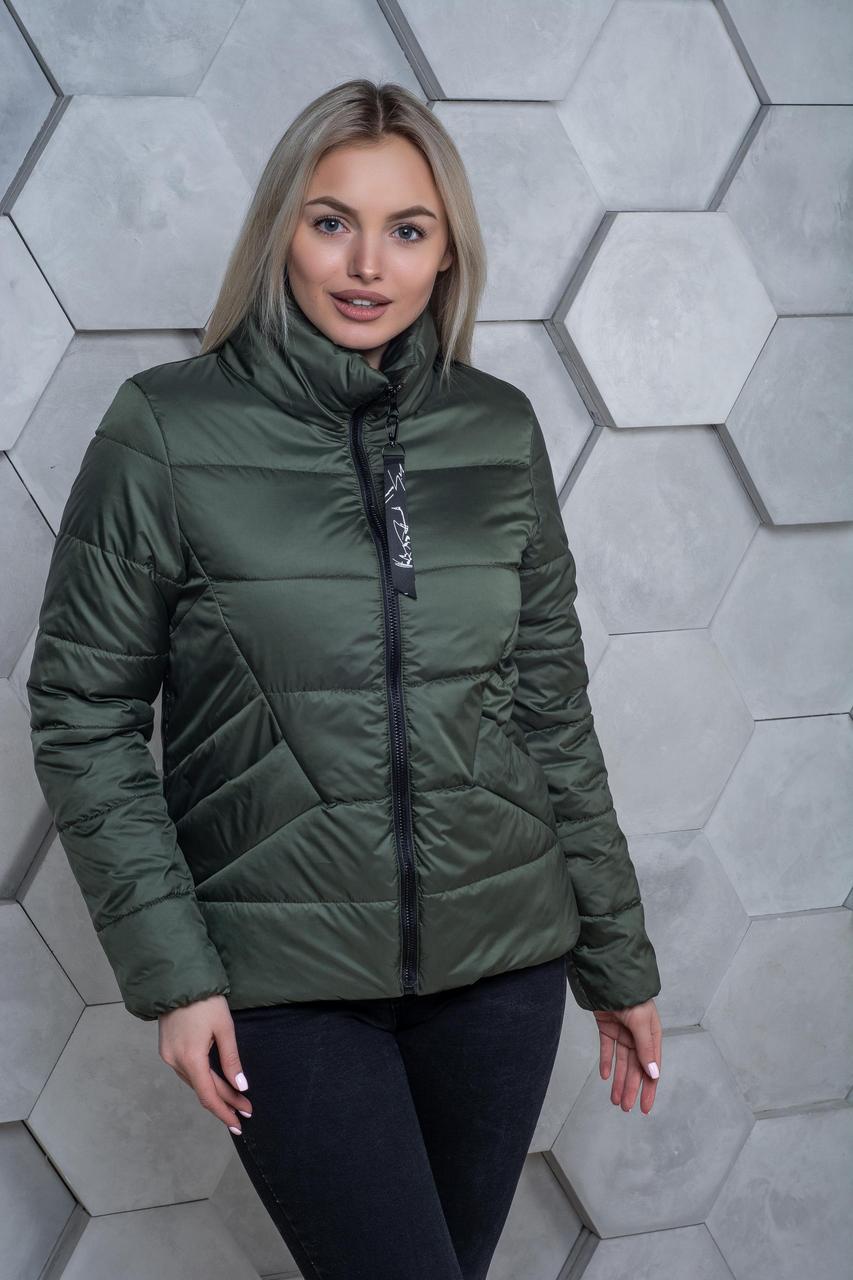 Демисезонная куртка К 00031 с 02 хаки